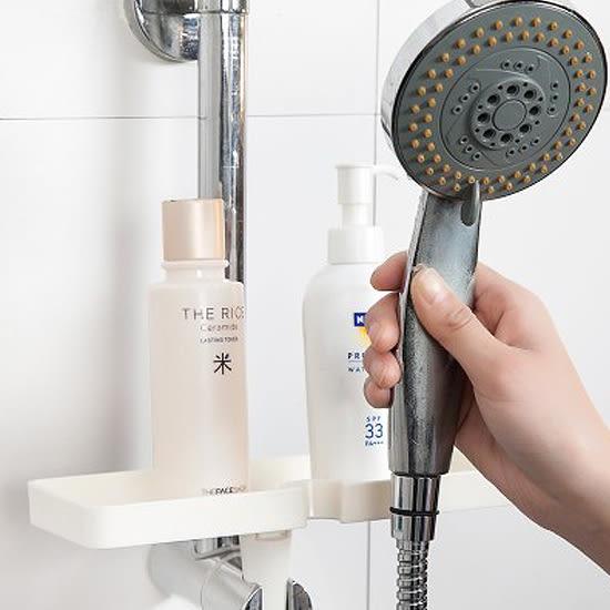 ✭慢思行✭【N157】創意蓮蓬頭置物架 衛浴 平台 收納 香皂 洗面乳 沐浴乳 洗漱 鏤空 瀝乾
