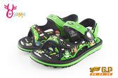 GP涼鞋 中小童 磁扣兩穿防水涼鞋 青蛙款 I6710#黑綠◆OSOME奧森童鞋