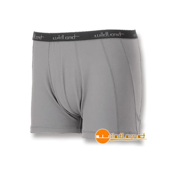 [Wildland] 荒野 (男) 透氣排汗四角內褲 灰 (W1682-90)