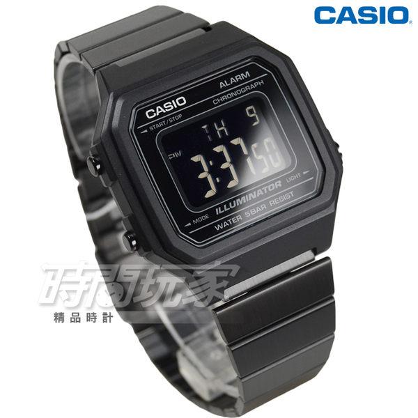 CASIO卡西歐 B650WB-1B 復古文青風大型數字數位電子錶 男錶 防水手錶 黑 B650WB-1BDF