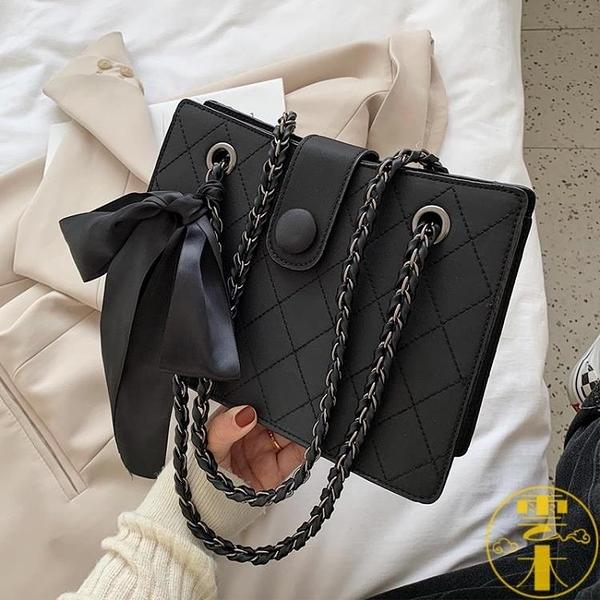 單肩斜挎包女百搭時尚休閒鏈條包包【雲木雜貨】