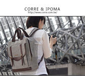 CORRE【LI063】學院風雙皮釦後背包