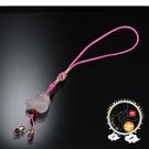 兔(粉晶)吊飾  + 平安小佛卡【十方佛教文物】