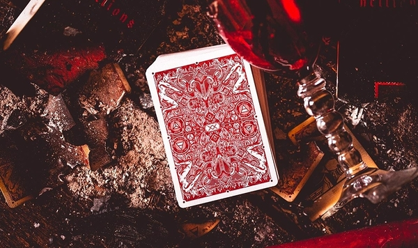 【USPCC撲克】Red Hellions Playing Cards 黑盒紅字 S103049455