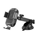 【BASEUS 倍思】智能出風口支架無線充(吸盤版) 手機支架 無線充電 導航 車用