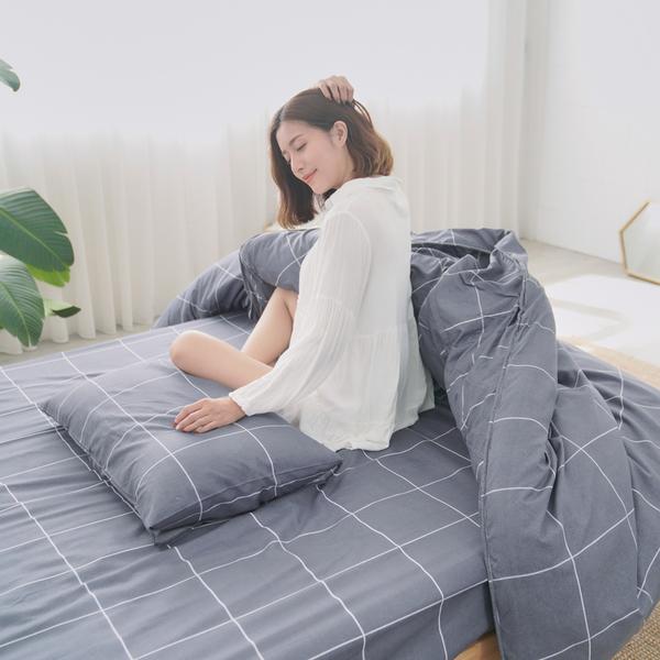 [小日常寢居]#U120#舒柔超細纖維3.5x6.2尺單人床包+枕套二件組-台灣製(不含被套)