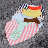 嬰兒口水巾寶寶三角巾純棉雙層按扣新生兒童造型圍嘴圍巾春秋季   夢曼森居家
