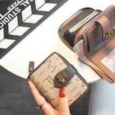 2019歐美小錢包女短款真皮女士牛皮多卡位卡包大牌錢夾零錢包  魔法鞋櫃