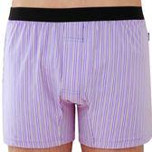 SOLIS-百搭條紋系列M-XXL竹碳纖維合身四角褲(雲雀紫)