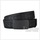 BV BOTTEGA VENETA經典編織皮帶設計牛皮復古扣式皮帶(黑)