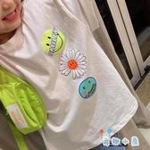 親子裝小雛菊短袖T恤男女童寬松兒童半袖上衣【奇趣小屋】