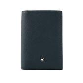 【MONT BLANC】匠心系列商務對開名片/卡片夾(藍色) 128590