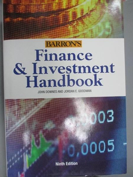【書寶二手書T1/大學商學_ZJQ】Barron's Finance & Investment Handbook_Downes, John/ Goodman, Jordan Elliot