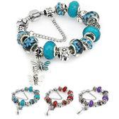 水晶鑲鉆珠藏銀手鏈 串珠手鏈 s17