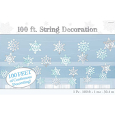聖誕 裝飾 佈置 100呎裝飾串1入-雪花