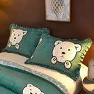 雙十二狂歡珊瑚絨水晶絨夾棉枕套一對裝加絨保暖枕頭套法蘭絨毛絨枕芯套冬季洛麗的雜貨鋪
