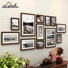 實木照片墻裝飾簡約現代相框墻客廳相片墻創...
