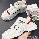 韓版小白鞋男鞋透氣帆布潮鞋韓版運動休閒小白板鞋 晴天時尚館