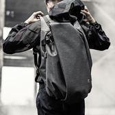 雙肩包男士時尚潮流背包韓版個性書包男大學生運動休閒電腦旅行包 易貨居