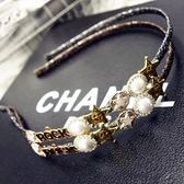 鑲鑽髮圈(任兩件)-時尚歐美珍珠設計女髮箍5款73gi55[時尚巴黎]