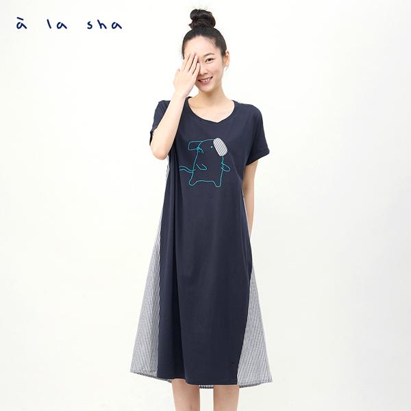 澎澎條紋洋裝