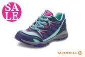 MERRELL 女童運動鞋 中童 防水 透氣 耐磨抓地功能綁帶運動鞋G8362#紫色◆OSOME奧森鞋業 零碼出清