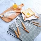 木柄不銹鋼餐具 叉子 湯匙 餐具 不鏽鋼餐具 刀叉