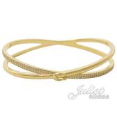 茱麗葉精品【全新現貨】COACH 87946 經典C LOGO鑲鑽雙圈造型手環.金