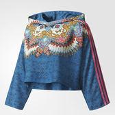 ADIDAS BORBOMIX 女裝 長袖 短版 民族風 七分袖 休閒 舒適 透氣 藍 粉 【運動世界】 BR5140