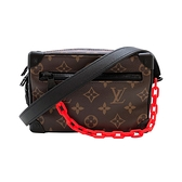 【台中米蘭站】Louis Vuitton Mini Soft Trunk 帆布印花拉鍊斜背方包(M44480-咖)