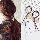 韓版 日韓 飾品 金屬 羽毛 吊墜 拼色 髮圈 髮繩 紮頭髮 橡皮筋 頭飾 髮飾 頭繩