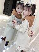 童裝女童衛衣秋裝新款冬裝加絨加厚韓版潮大童兒童洋氣中長款 極客玩家