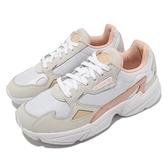 adidas 老爹鞋 Falcon W 白 粉橘 三葉草 小白鞋 女鞋 愛迪達 運動鞋 【ACS】 GV7366