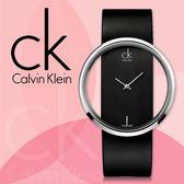 CK 手錶專賣店 K9423107 女錶 鏤空式玻璃鏡面  黑面 石英 不鏽鋼錶殼 礦物抗磨玻璃  皮錶帶