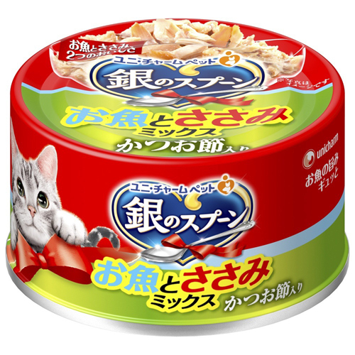 【寵物王國】日本unicharm-銀湯匙貓罐頭70g系列 x24罐組