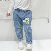 塗鴉貼布牛仔長褲 長褲 橘魔法 Baby magic 現貨 男女童 中童 牛仔褲