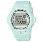 【CASIO】BABY-G 春天系水上活動防撞電子錶-青綠(BG-169R-3)