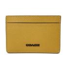 【COACH】專櫃款立體LOGO信用卡片名片夾(黃)