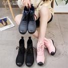 雨靴 雨鞋女短筒成人防滑膠鞋韓國學生反絨...