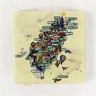 【收藏天地】台灣紀念品*雙面隨身鏡-寶島地圖 /小物 送禮 文創 風景 觀光  禮品