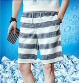 短褲男夏天五分休閒中褲夏季寬鬆大碼速干男士運動5分沙灘褲男夏『新佰數位屋』