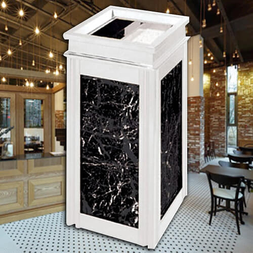 【企隆 圍欄 飯店用品】不銹鋼大理石桶/G6S 垃圾桶/菸灰缸/煙灰/置物