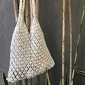 草編包 漁網縷空草編包韓風手工編織沙灘度假手提單肩包