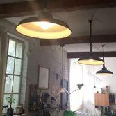 懷舊復古搪瓷鍋蓋燈罩 老式軍綠色早期路燈/壁燈/吊燈 可配LED鎢絲愛迪生燈泡(淺罩)