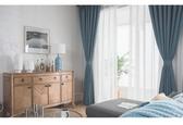 窗簾 全遮光窗簾簡約現代臥室客廳棉麻風遮陽窗簾遮光布料【免運直出】
