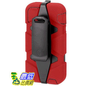 [103 美國直購] Griffin 605680-SFRB Survivor Case for iPhone 5/5S Retail Packaging - Red/Black 手機殼