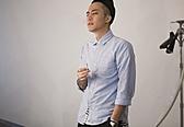 【找到自己】韓國 潮流 迷彩 假兩件設計襯衫 條紋 灰色襯衫 藍色襯衫 假兩件牛津紡長袖襯衫