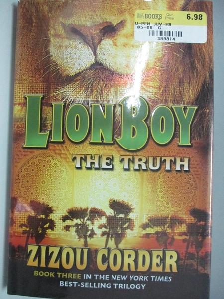 【書寶二手書T7/兒童文學_DIJ】The Truth_Corder, Zizou/ Van Deelen, Fred (ILT)