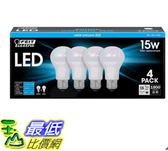[COSCO代購] W121855 Feit 15W LED 球燈泡 4入