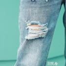 孕婦牛仔褲春夏裝薄款